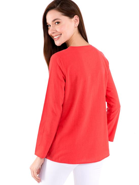 Red - Blouse - 8SG474Z8