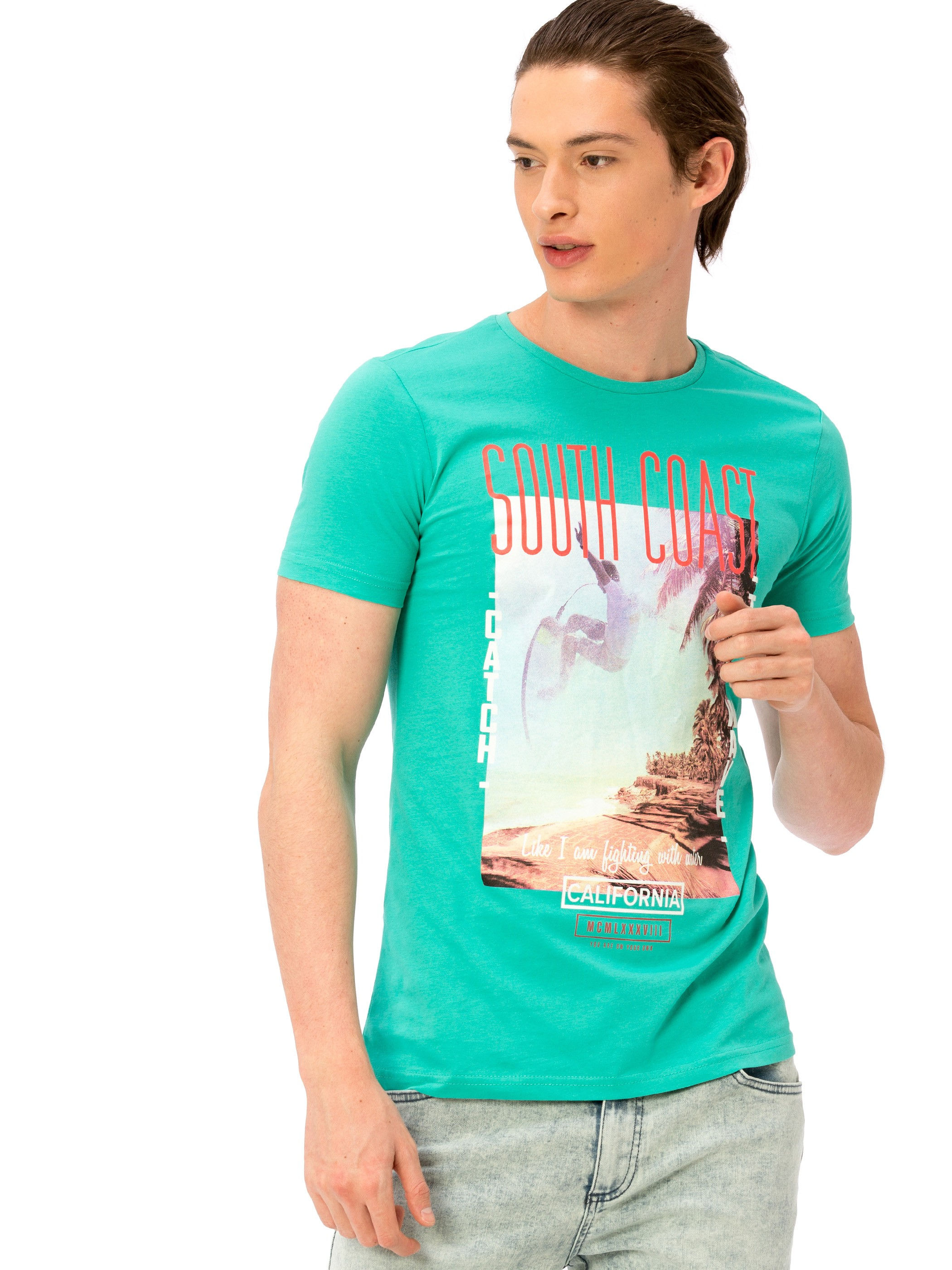 TURQUOISE - T-Shirt - 8S3748Z8