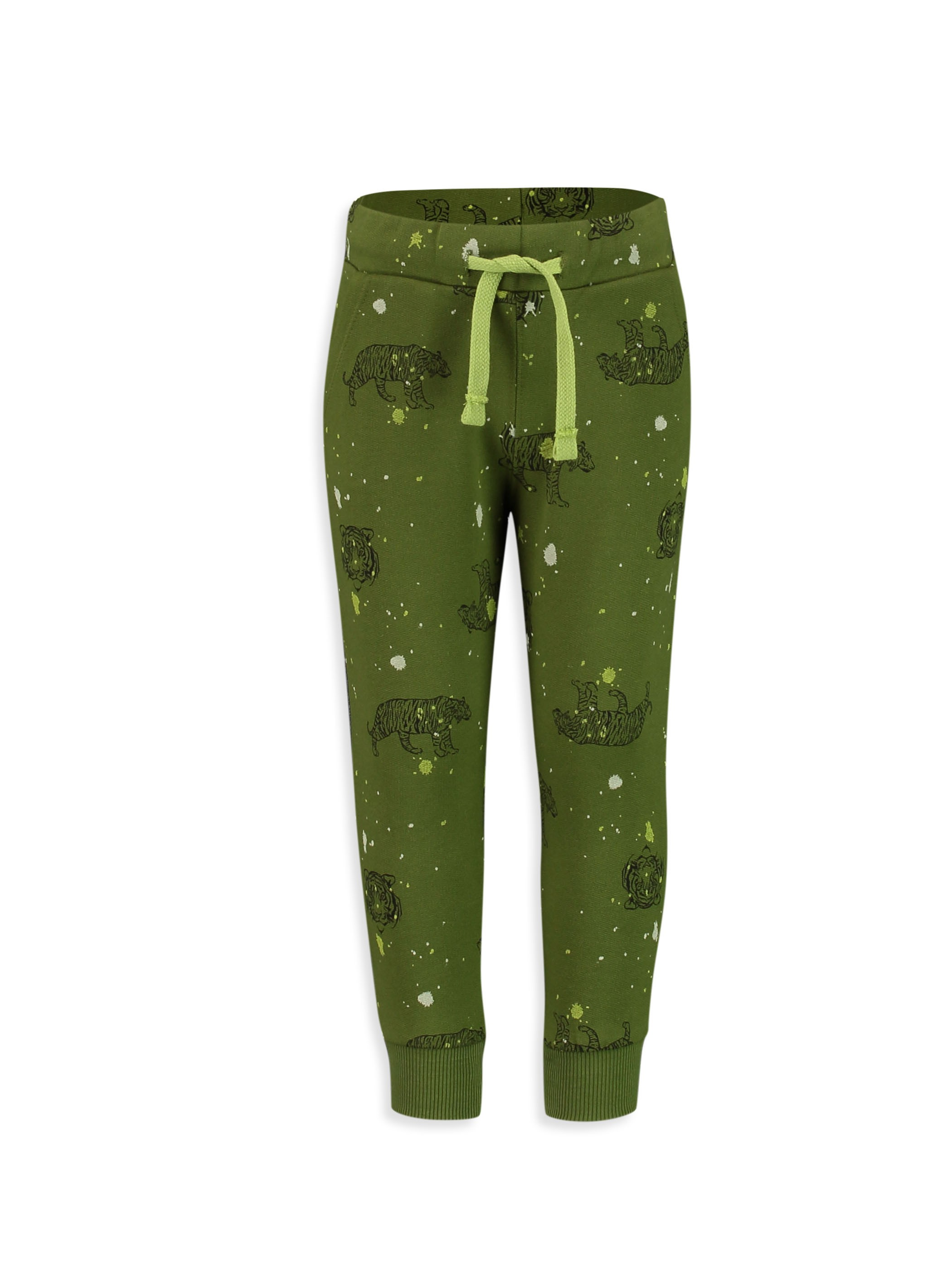 GREEN - Elastic Waist Boy Jogger Trousers - 8S2800Z4