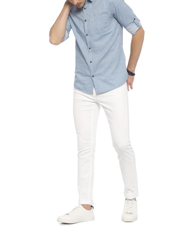 White - Trousers - 7Y7583Z8