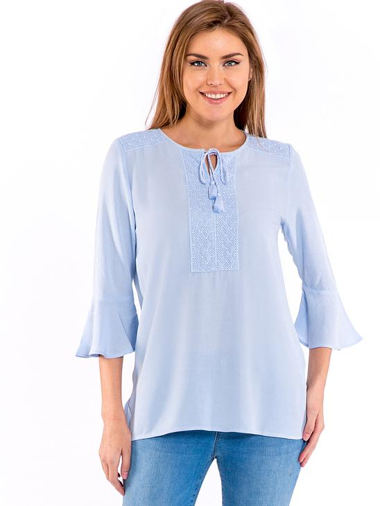 Blue - Blouse - 8S8454Z8