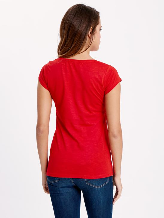 Red - T-Shirt - 8S4804Z8