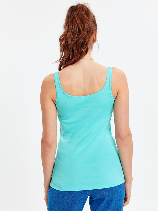 TURQUOISE - Tank Top - 9S6574Z8