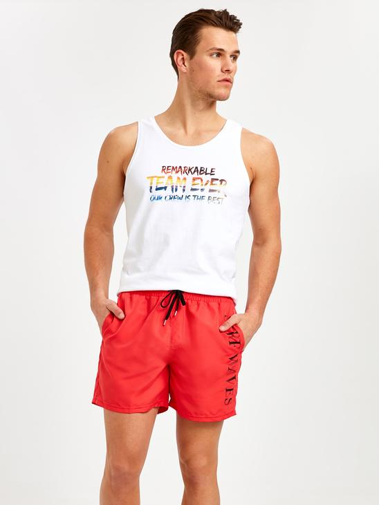 RED - Swim Shorts - 9S6694Z8
