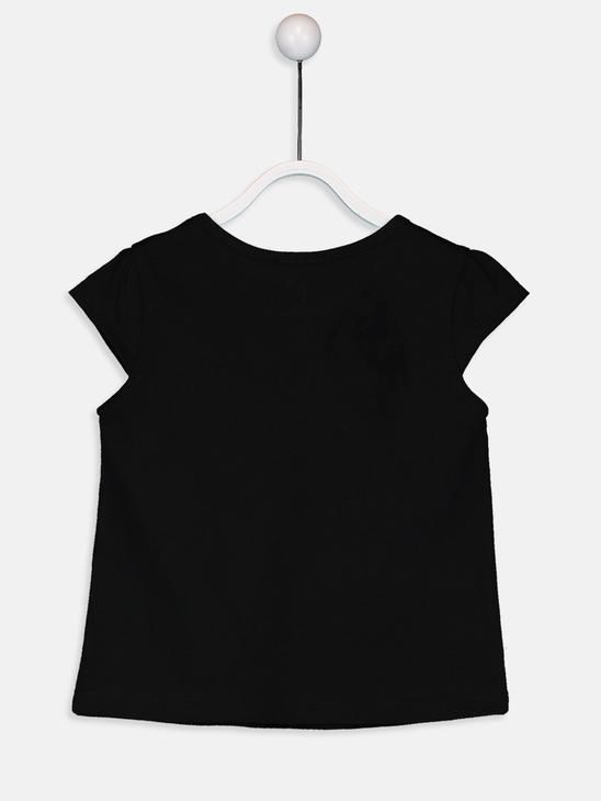 BLACK - Baby Girl's's Letter Printed Cotton T-Shirt Mother and Daughter Matching - 9WM686Z4