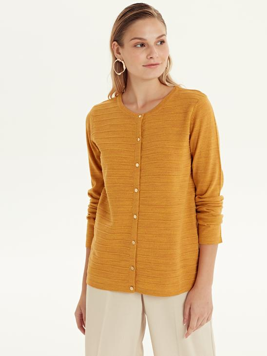 YELLOW - Cardigan - 9W0275Z8