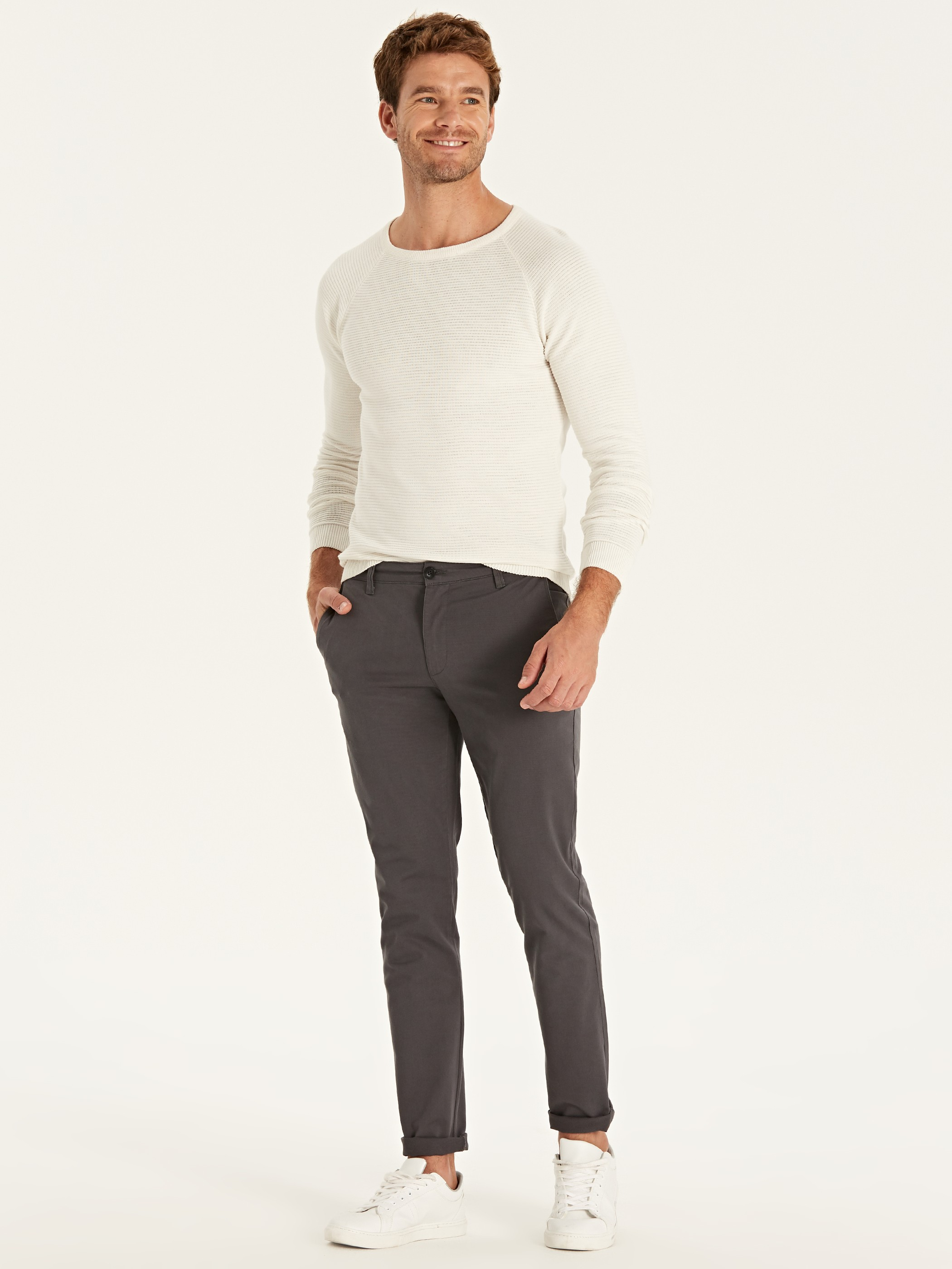 GREY - Chino Trousers - 9W2431Z8
