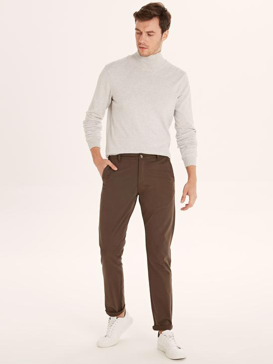 BROWN - Chino Trousers - 9W1023Z8