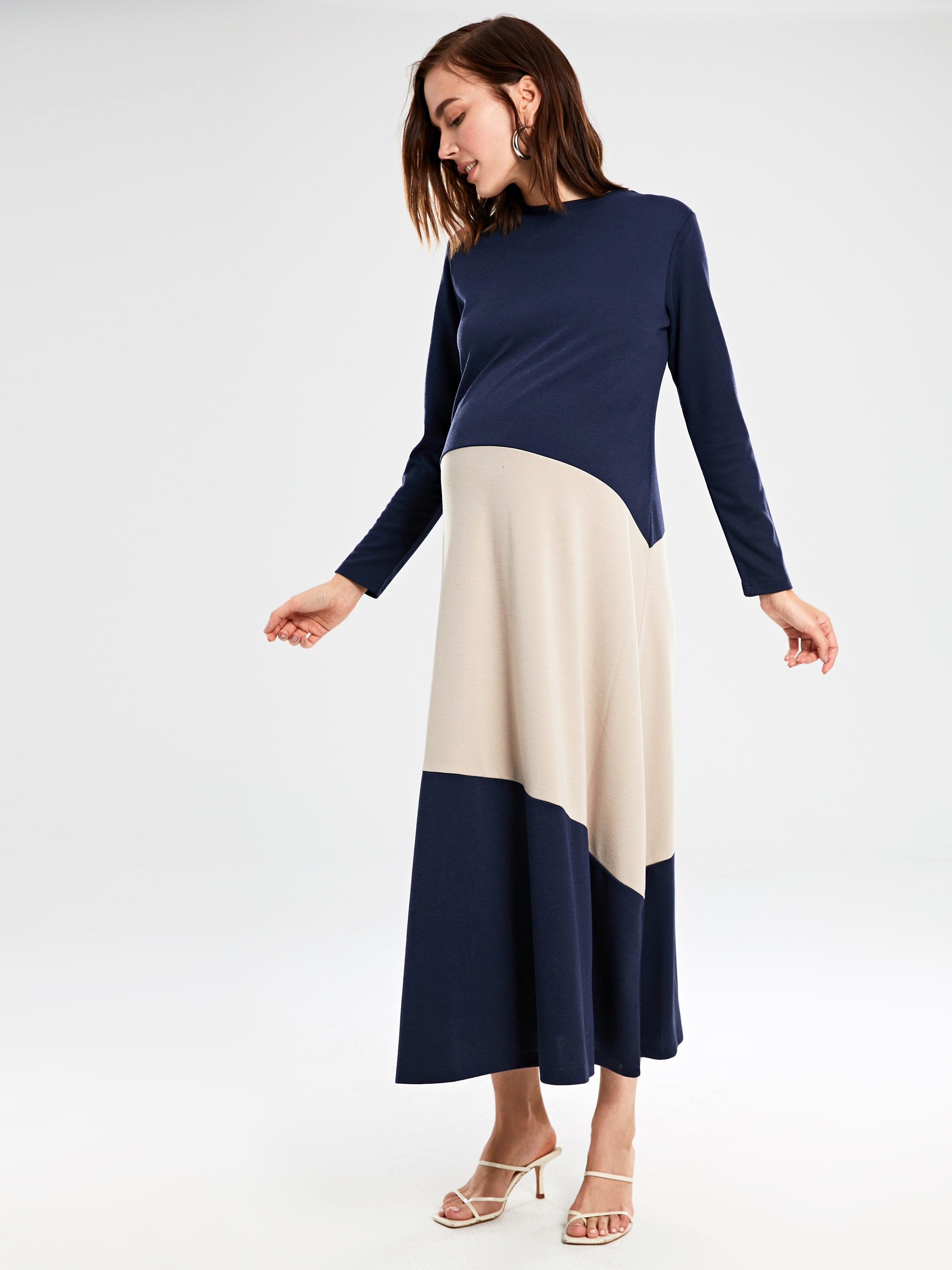 NAVY - Colour-Block Maternity Dress - 9WT693Z8