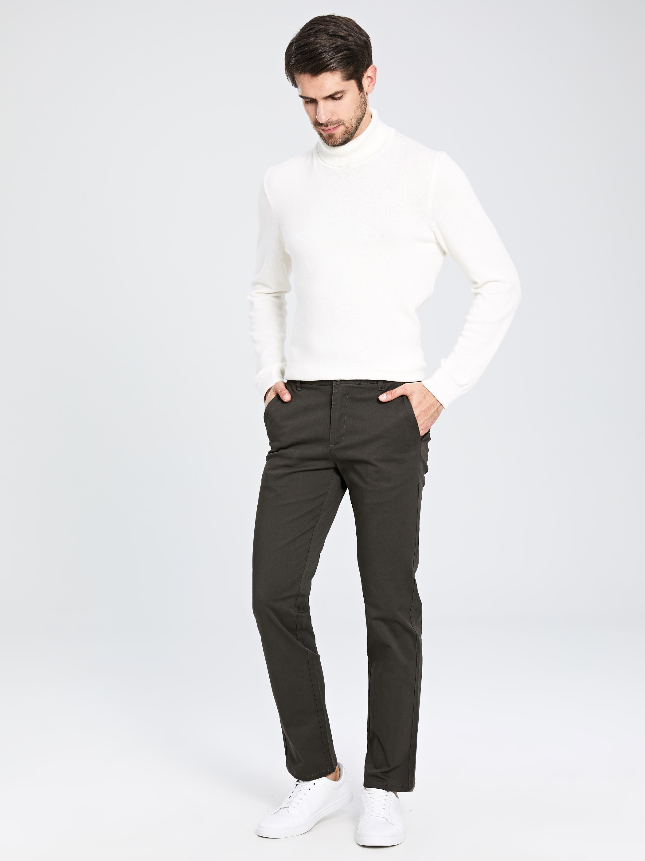 ANTHRACITE - Chino Trousers - 9WS742Z8