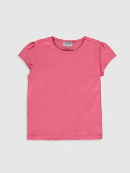 PINK - Girl's Cotton Basic T-Shirt