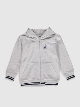 GREY - Cardigan Track Top