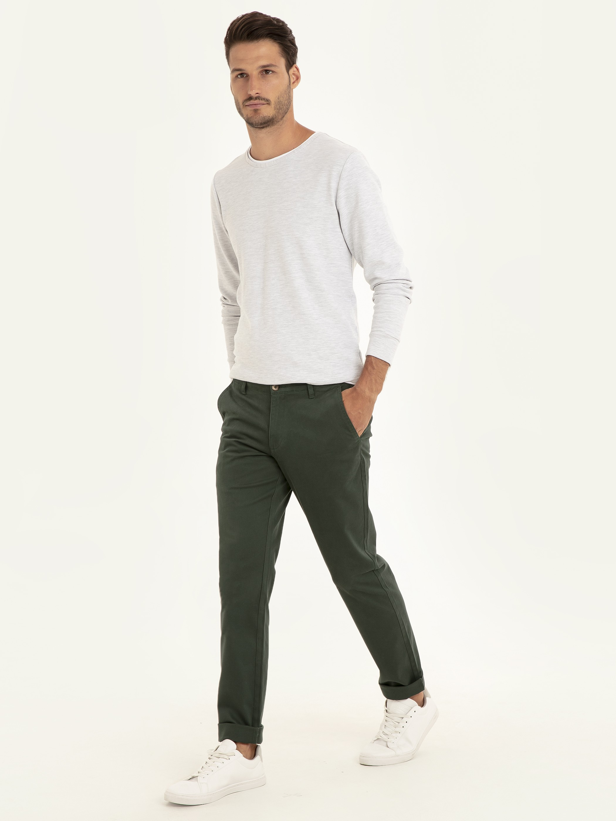 GREEN - Chino Trousers - 9W1023Z8