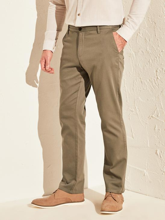 GREY - Normal Fit Chino Trousers - 0S1972Z8