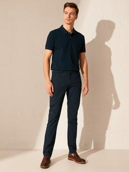 NAVY - Slim Fit Twill Trousers