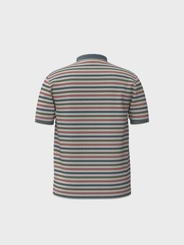 PINK - Comfortable Fit Polo Neck Striped T-Shirt - 0SM892Z8