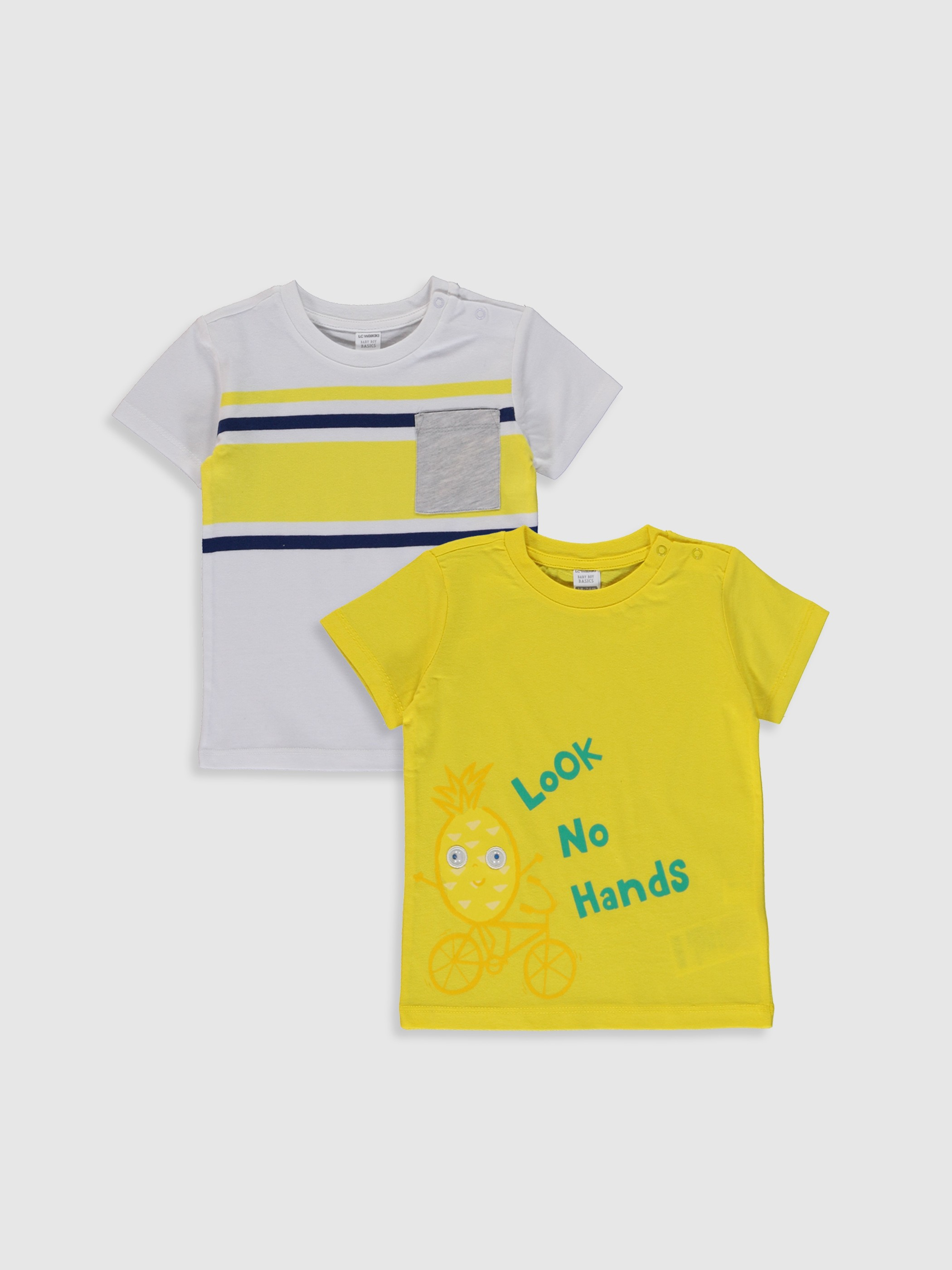 YELLOW - 2-pack Baby Boy's Printed T-Shirt - 0SI122Z1