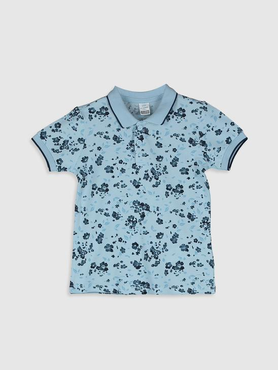 BLUE - Baby Boy's Printed Polo Neck T-Shirt Family Matching - 0S8435Z1