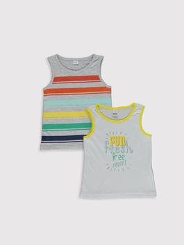 WHITE - 2-pack Baby Boy's Cotton Tank Top