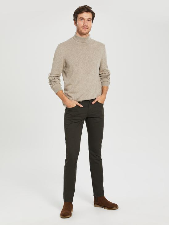 KHAKI - Slim Fit Gabardine Chino Trousers - 0S4765Z8