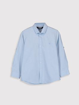 BLUE - Boy's Long Sleeve Oxford Shirt