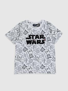 WHITE - Boy's Star Wars Cotton T-Shirt