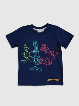 NAVY - Baby Boy Looney Tunes Printed T-Shirt