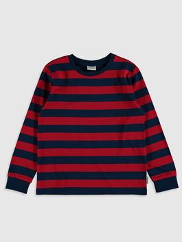 RED - Boy's Striped Cotton T-Shirt