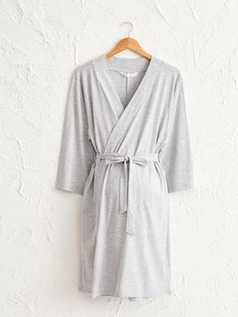 GREY - Waistband Maternity Gown