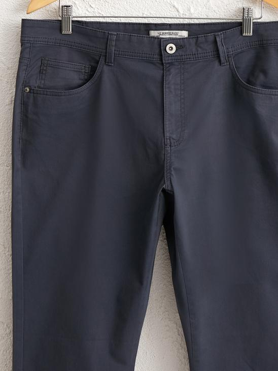 ANTHRACITE - Slim Fit Gabardine Chino Trousers - 0S4765Z8