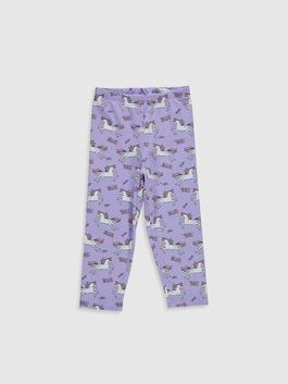 LILAC - Girl's Printed Cotton Leggings