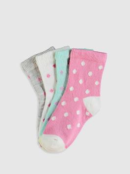 MIX - 4-pack Baby Girl's Ankle Socks