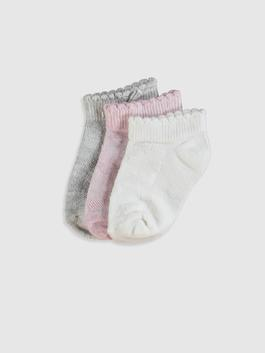 MIX - 3-pack Baby Girl's Bootie Socks