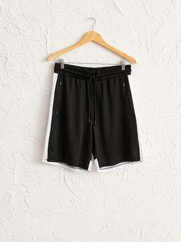 BLACK - Regular Fit Active Sport Shorts