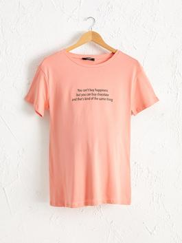 CORAL - Letter Printed Cotton Maternity T-Shirt