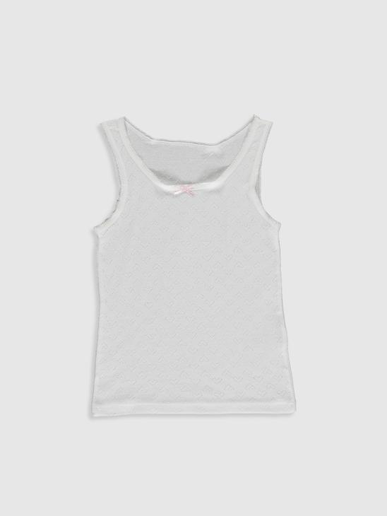 WHITE - 2-pack Girl's Cotton Tank Top - 0W3193Z4