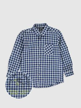 NAVY - Boy's Chequered Shirt