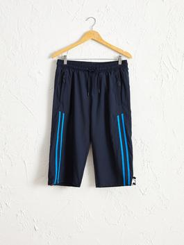 أزرق - Knee Length Shorts