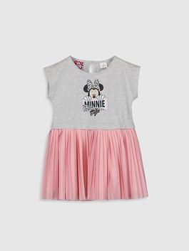 GREY - Baby Girl's Minnie Mouse Printed Dress