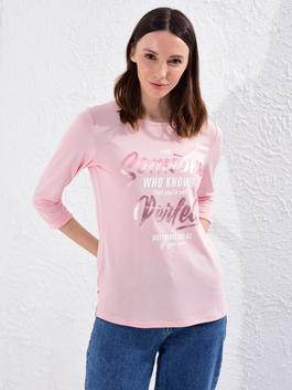 PINK - Bright Letter Printed T-Shirt