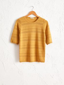 YELLOW - Self-Patterned Lightweight Tricot Jumper
