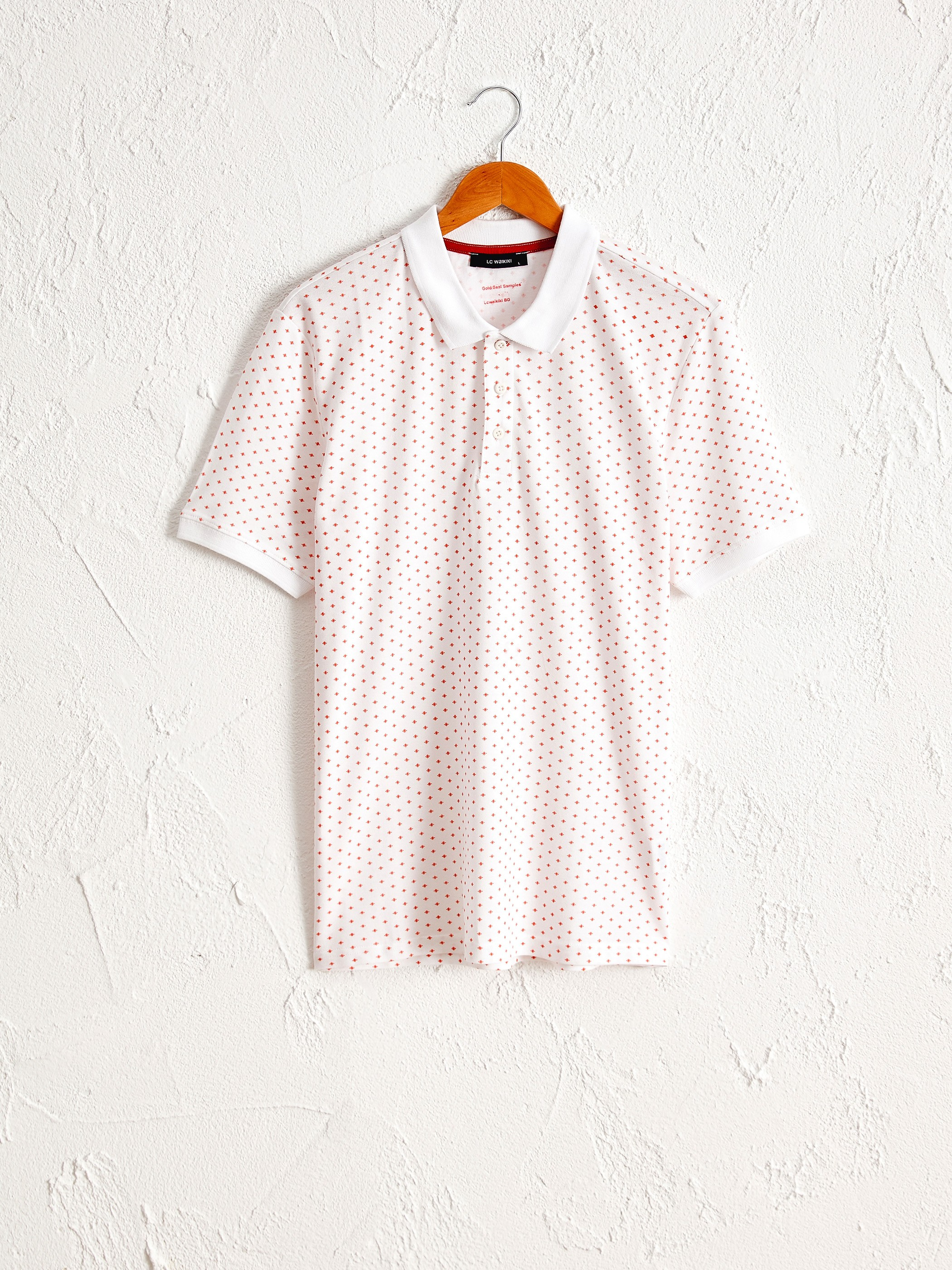 WHITE - Polo Neck and Short Sleeve Cotton T-Shirt - 0SM146Z8