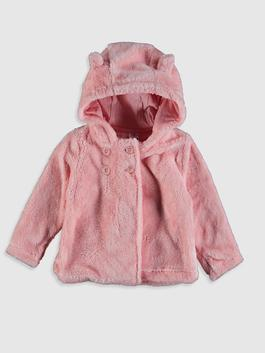 PINK - Baby Girl's Plush Cardigan