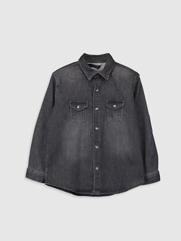 GREY - Boy's Jean Shirt