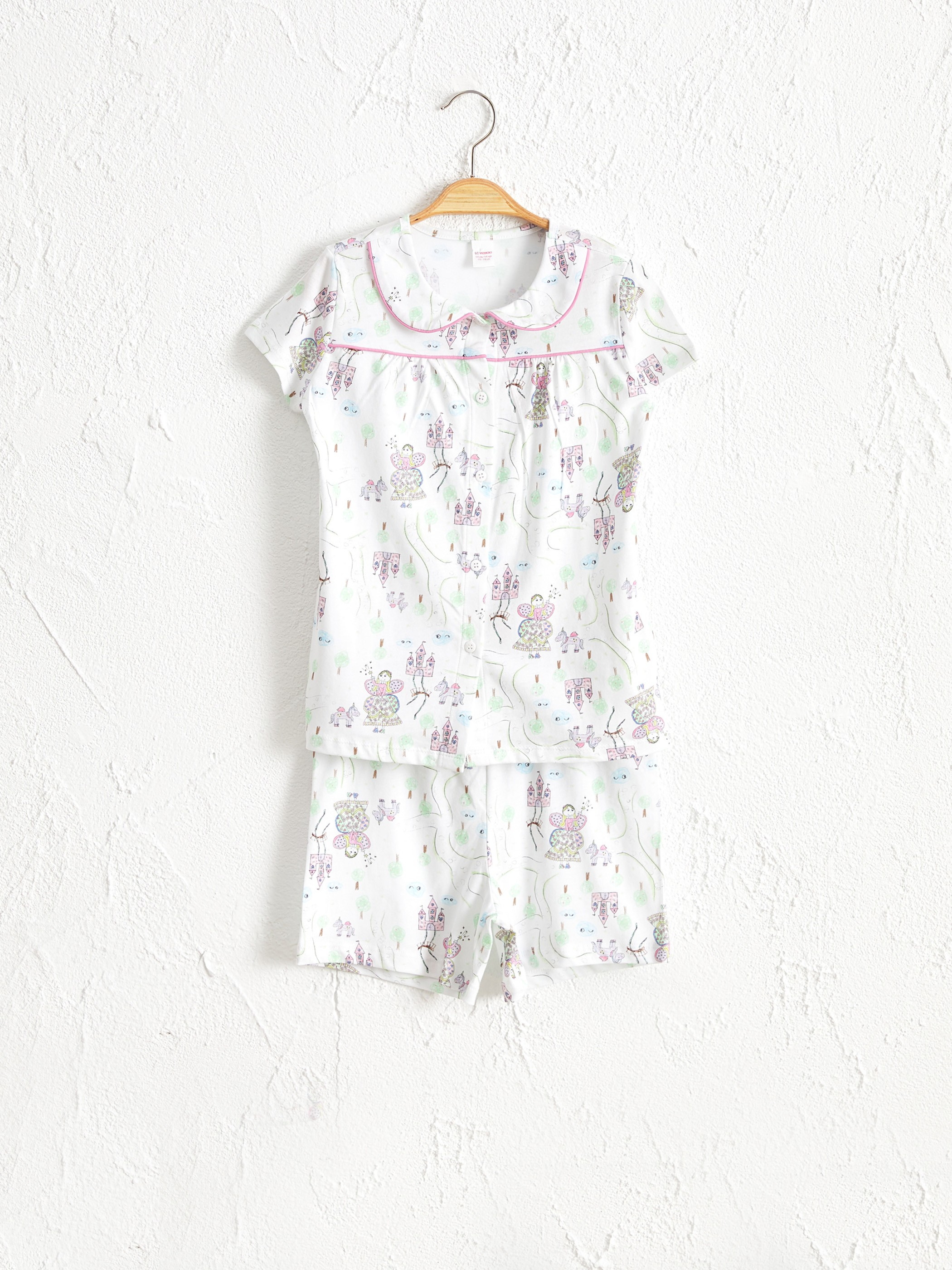 ECRU - Girl's Printed Cotton Pyjamas Set - 0ST591Z4