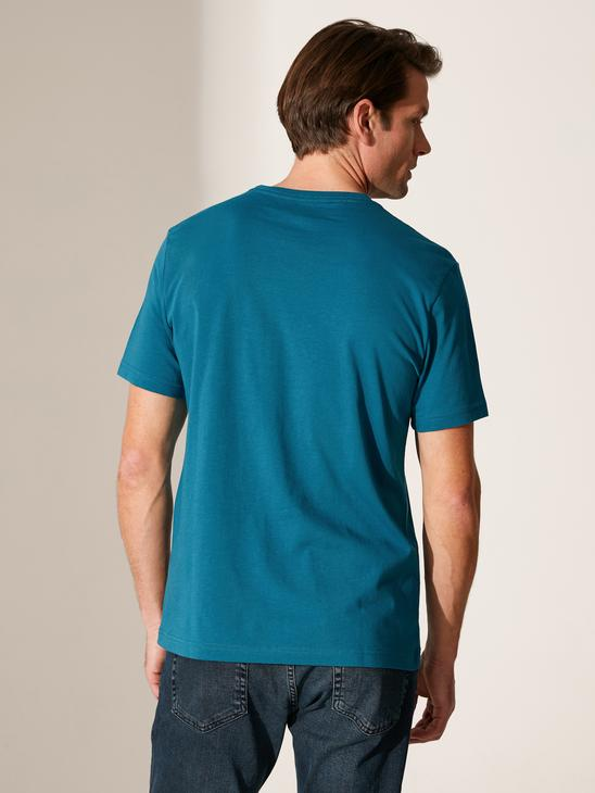 PETROL - Crew Neck Basic Combed Cotton T-Shirt - 0S1780Z8