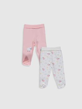 PINK - 2-pack Baby Girl's Bottom with Booties