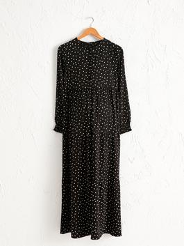 BLACK - Spotty Viscose Maternity Dress