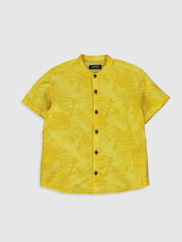 YELLOW - Boy's Figured Poplin Shirt