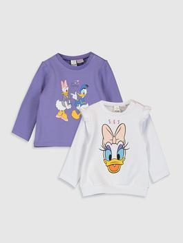 ECRU - Baby Girl Daisy Duck Printed Sweatshirt 2 Pieces